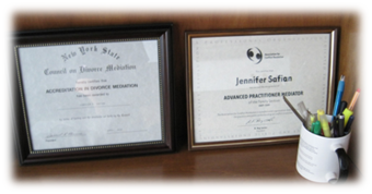 Jennifer Safian, divorce mediator credentials