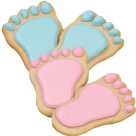 Picture of baby feet cookies