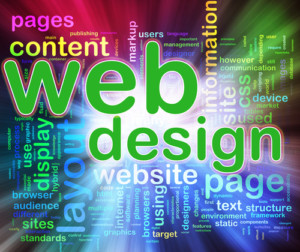 Wordcloud of Web design
